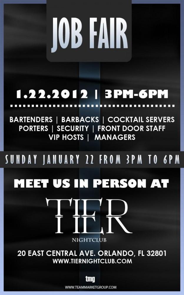 Tier Nightclub job fair.