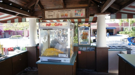 The popcorn and snack stand located near the entrance to USF.