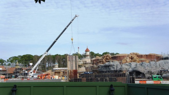 Fantasyland construction - February 2012.