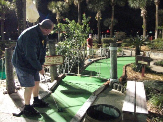 Pirate's Cove Adventure Golf on International Drive.