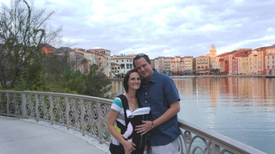 Your humble OrlandoInformer.com Editor, wife, and daughter during our recent Valentine's Day trip to Universal Orlando's Portofino Bay Hotel.
