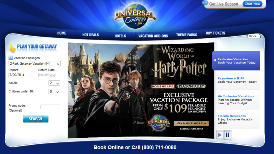 UniversalOrlandoVacations.com