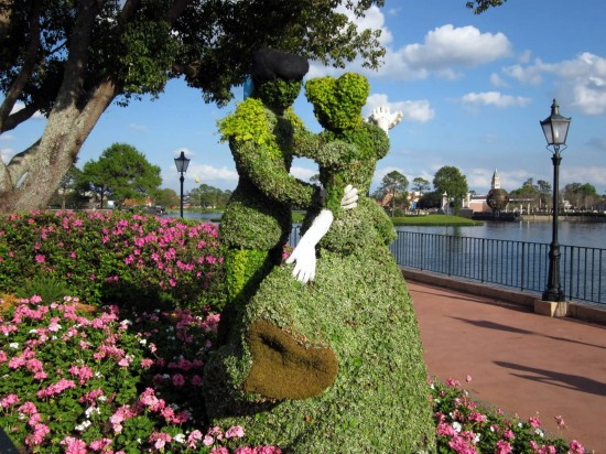 Cinderella topiary near Epcot's France Pavilion.