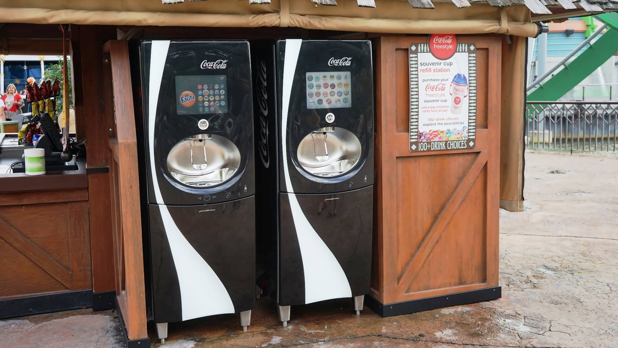 Coke Freestyle station at IOA's Port of Entry