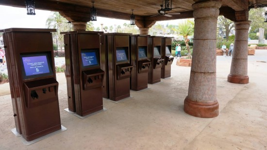Electronic Will Call Kiosks in front of Islands of Adventure.