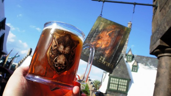 Refillable cups at Universal's Islands of Adventure: Souvenir Hogs Head mug.