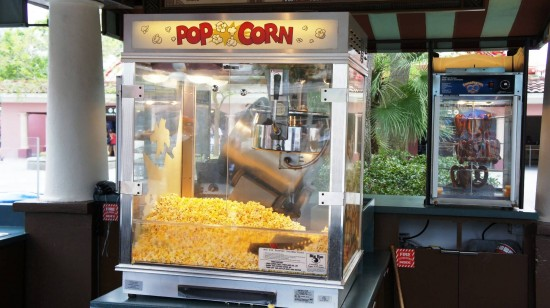 Refillable cups at Universal Studios Florida: Popcorn machine.