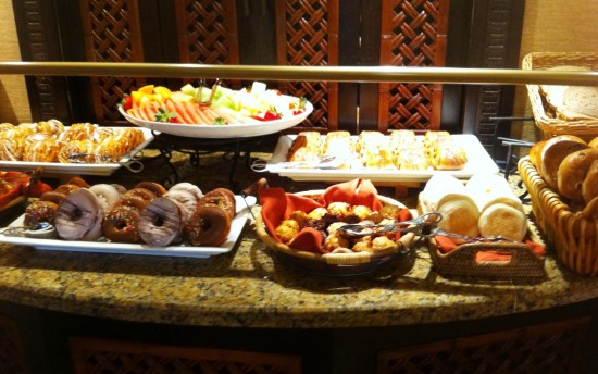 The club level lounge at Royal Pacific Resort offers great options for vegetarians.