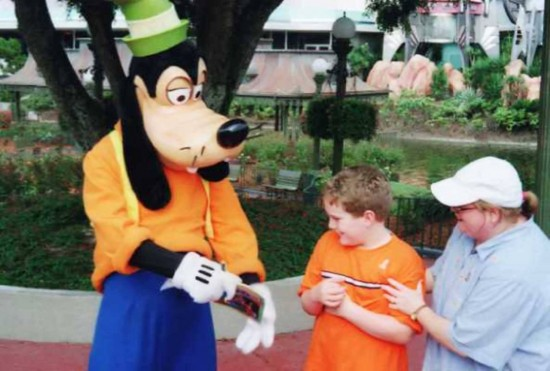 Vacationing at Orlando's theme parks: Shy about Goofy.