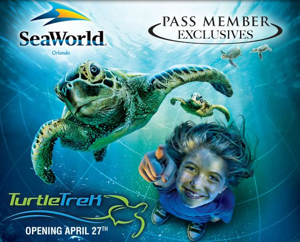 TurtleTrek Pass Member Exclusive (courtesy of SeaWorld).