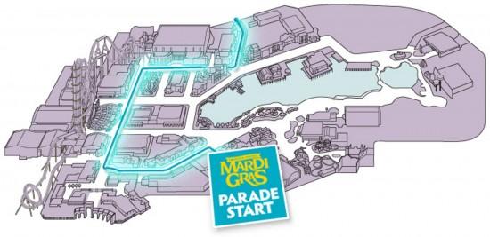 Mardi Gras 2013 parade route.