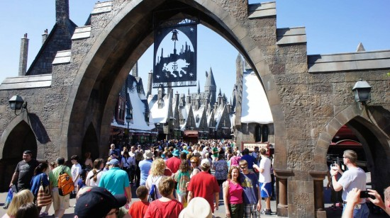 Spring Break crowds inside the Wizarding World of Harry Potter - April 2, 2012.
