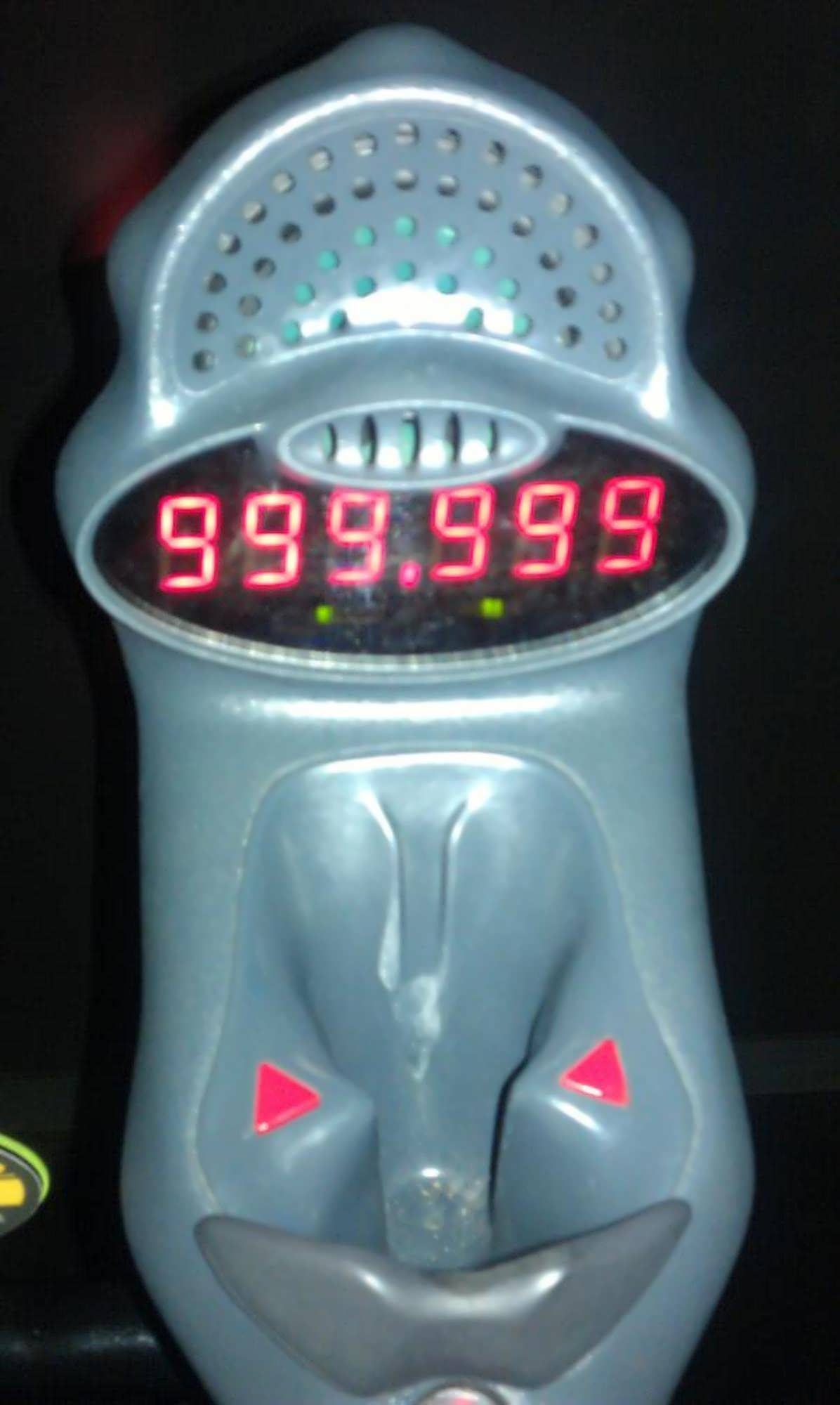 High score of 999,999 points at MEN IN BLACK Alien Attack at Universal Studios Florida