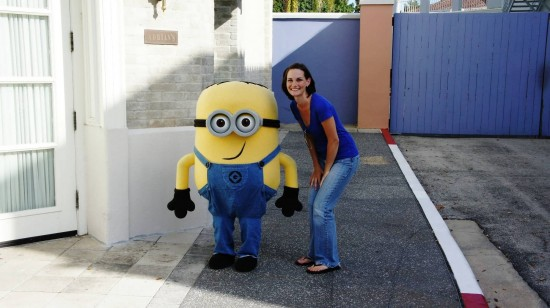 A minion and friend at Universal Studios Florida.