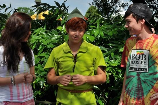 Meeting Peter Pan.