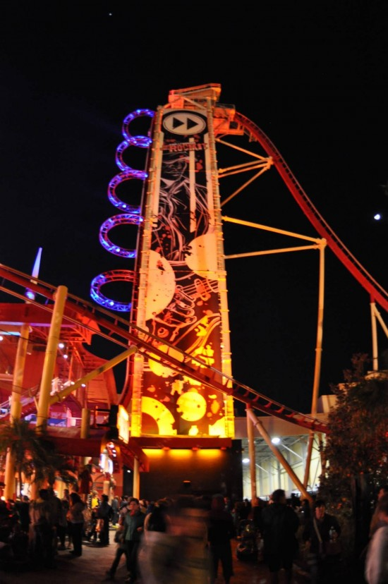 Hollywood Rip Ride Rockit at Universal Studios Florida.