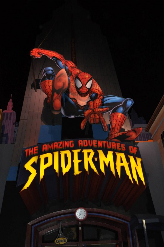 Entrance to The Amazing Adventures of Spider-Man.