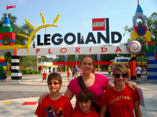 Lori and family at Legoland Florida.