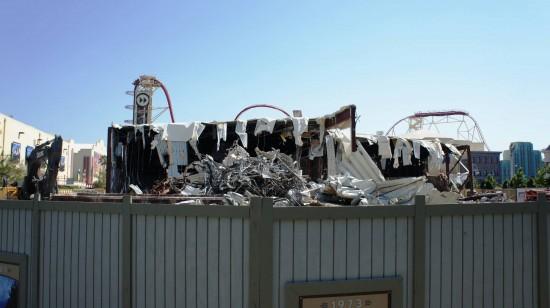 Demolition of soundstage 44 at Universal Studios Florida.