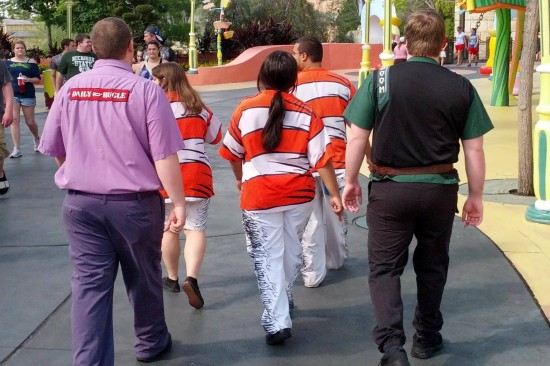 Team members from various attraction at Universal's Islands of Adventure.