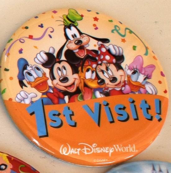 1st Visit Disney badge.