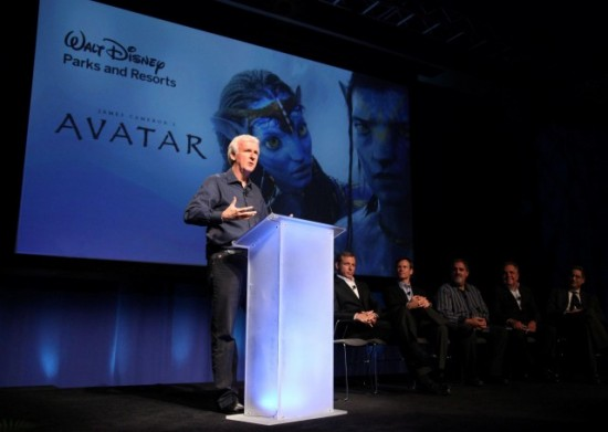 James Cameron at the Avatar announcement.