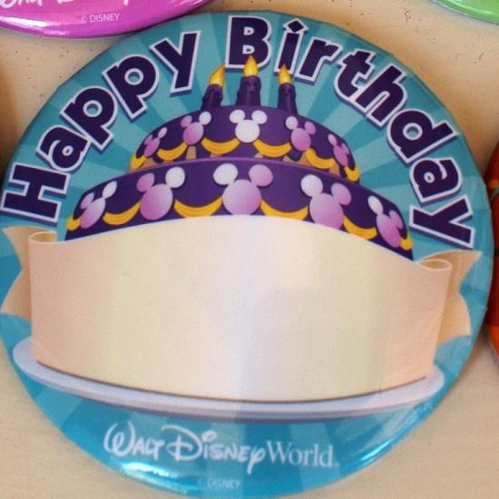 Happy Birthday Disney badge.