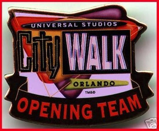 """CityWalk """"Opening Team"""" pin."""