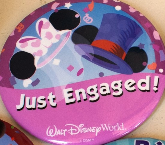 Just Engaged Disney badge.