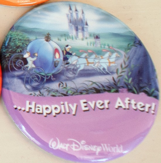 Happily Ever After Disney badge.
