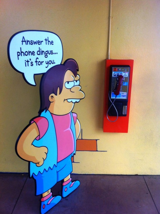 Pay phone near The Simpsons Ride at Universal Studios Florida.