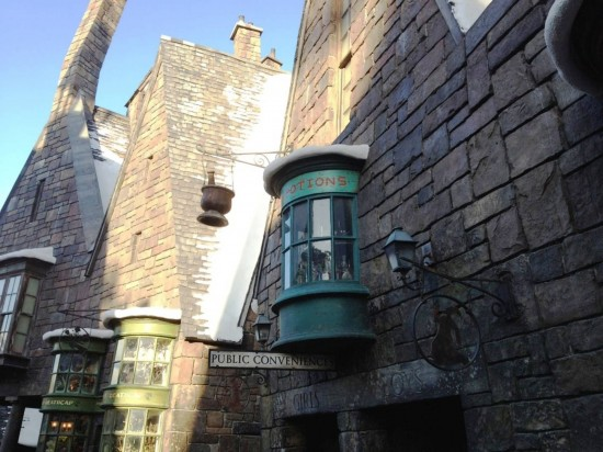 Public conveniences at the Wizarding World of Harry Potter.