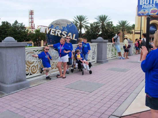 Patricia and the family visit Universal Orlando.