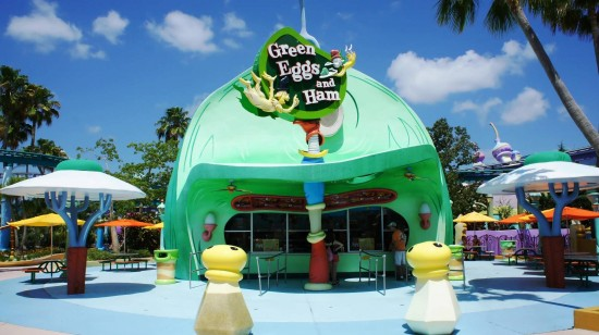 Green Eggs and Ham Cafe at Universal's Islands of Adventure.