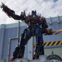 Optimus Prime figure added to Transformers building.