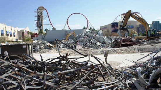 Demolition of Soundstage 44 at Universal Studios Florida - July 1, 2012.