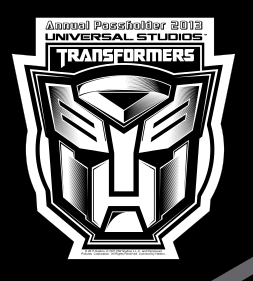 Universal Orlando Annual Passholders 2013 Transformers decal.