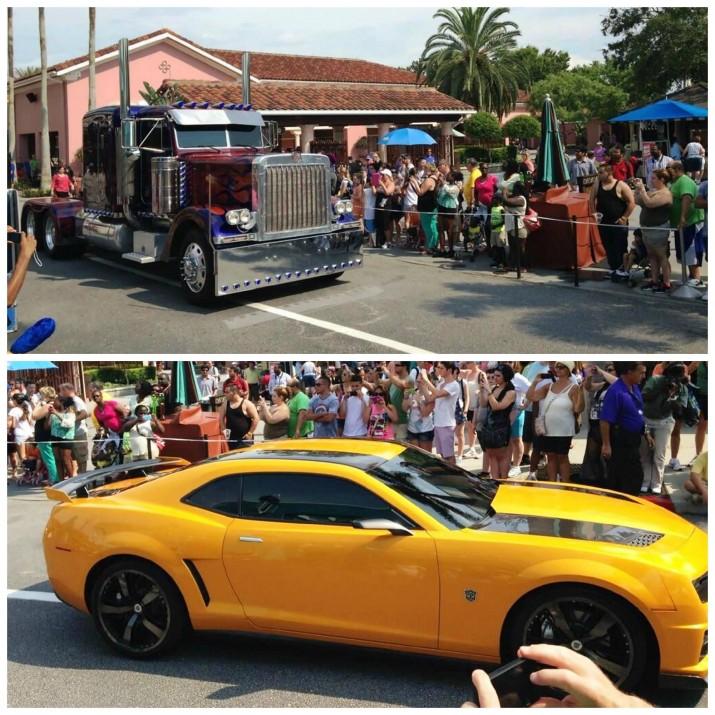 Optimus Prime & Bumblebee arrive at Universal Studios Florida.