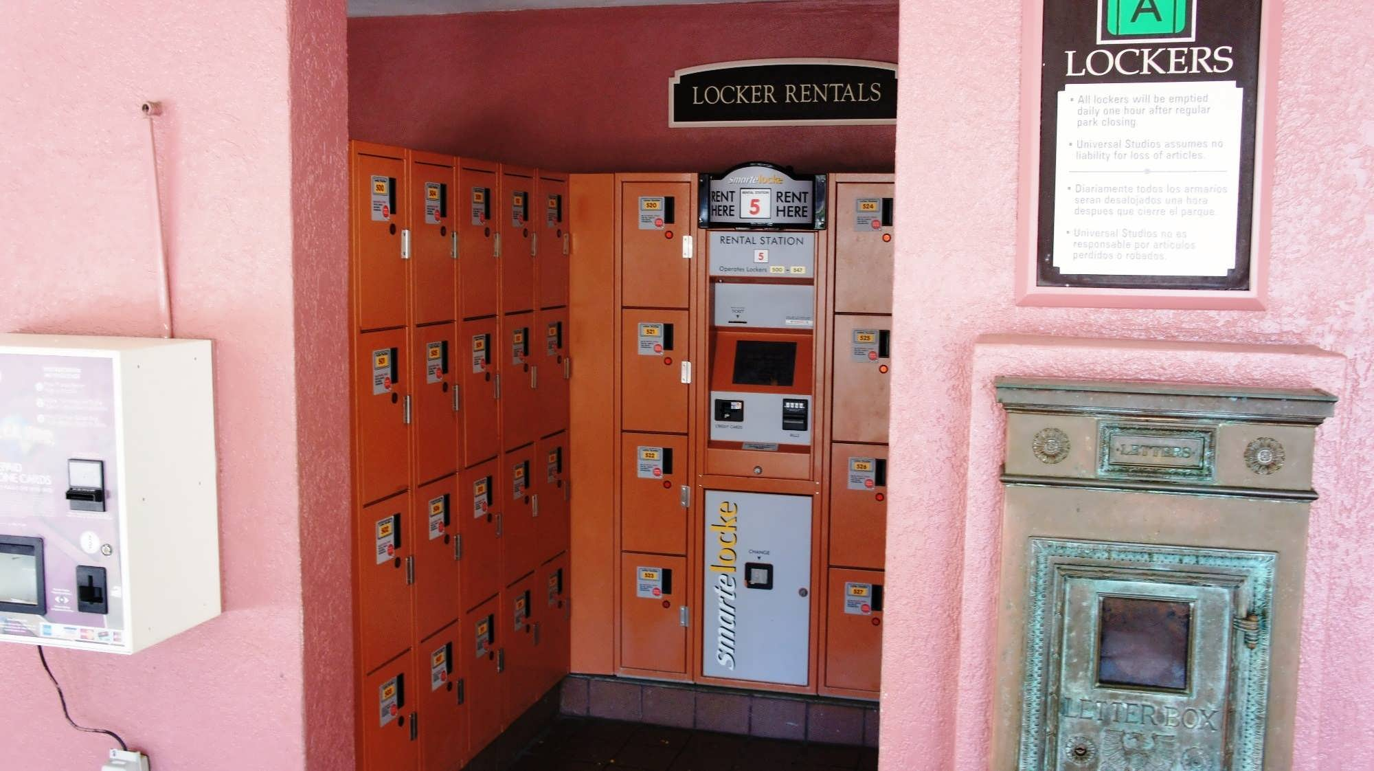 USF lockers – Set 2. Inside the park, to the left by the stroller rental.