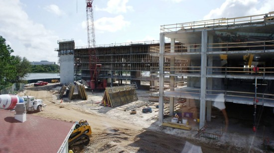 Grand Floridian DVC construction - September 1, 2012.