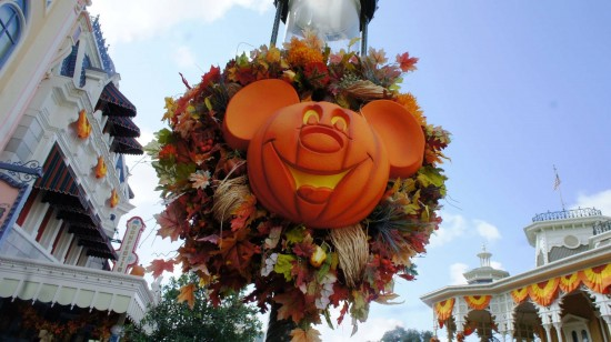 Magic Kingdom fall decorations - September 1, 2012.