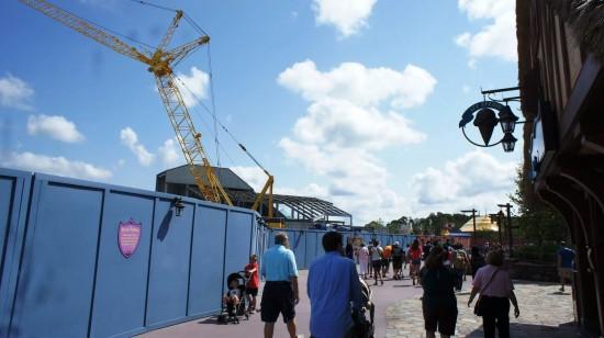 Fantasyland construction - September 1, 2012.