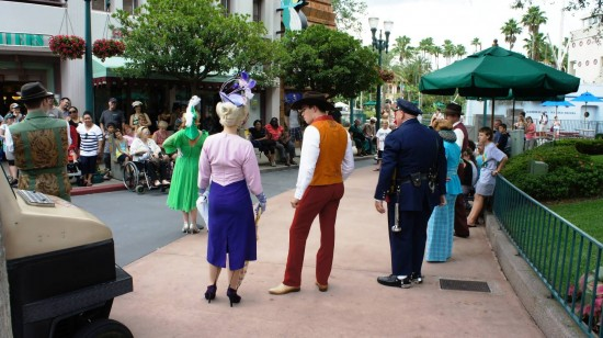 Street characters perform for guests at Disney's Hollywood Studios.