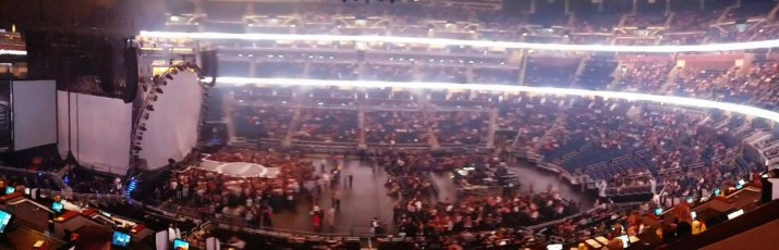 Amway Center panorama from Loge Box H.