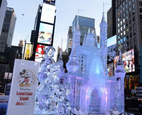 Disney announces 'Limited Time Magic' with Times Square ice castle.