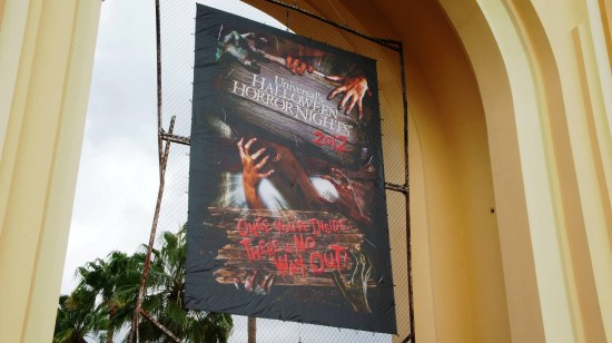 The entrance to Halloween Horror Nights 2012.