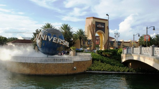 The entrance to USF during Halloween Horror Nights.