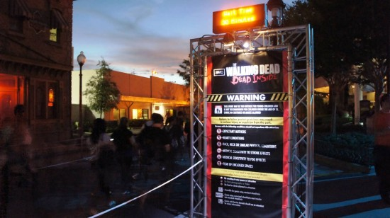 The entrance to The Walking Dead at Halloween Horror Nights 2012.