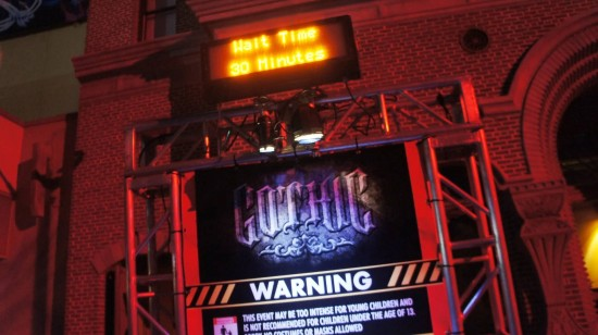 Gothic at Halloween Horror Nights 2012.