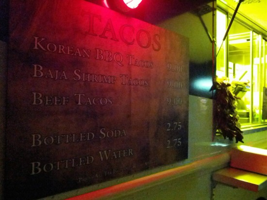 Snack options at Halloween Horror Nights: Taco truck.